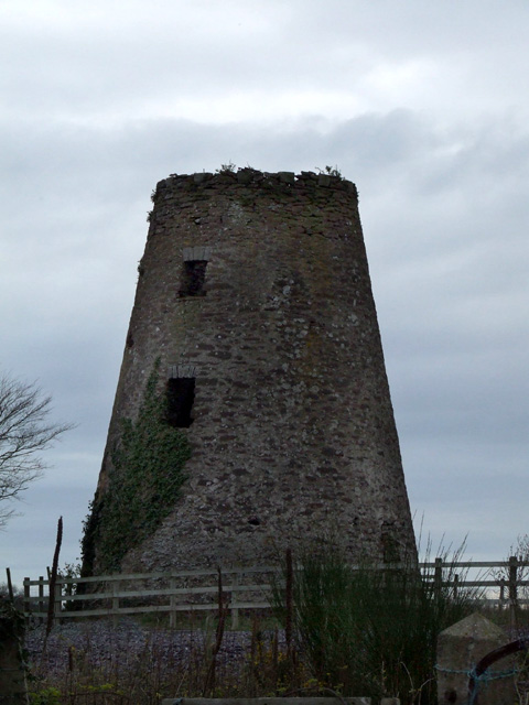 Old windmill at Capel Coch
