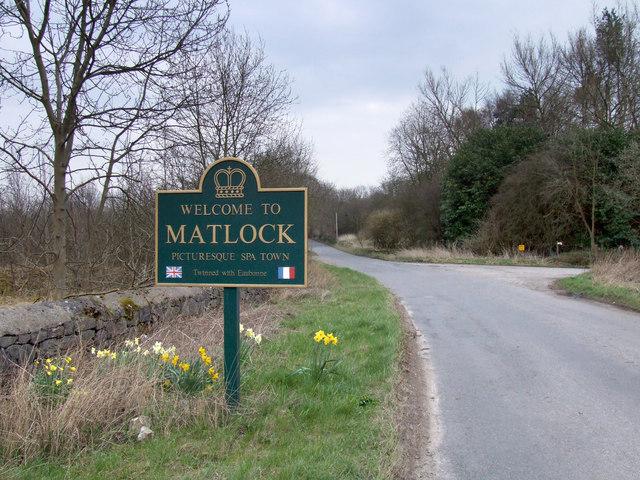 Matlock boundary sign.