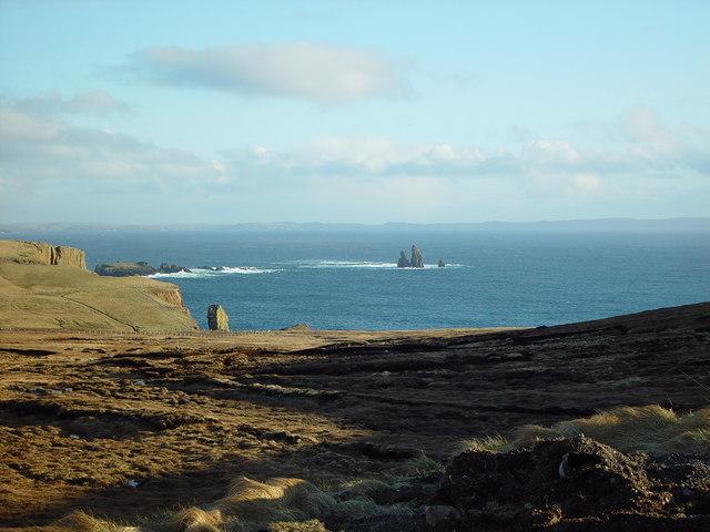 View over Heads of Grocken, Eshaness, Shetland