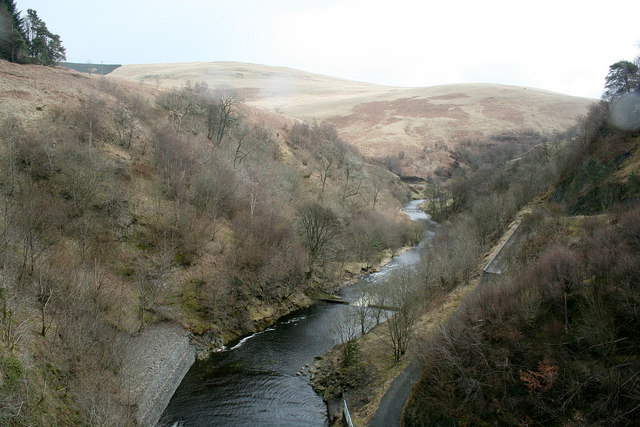 The River Devon after leaving Castlehill Reservoir