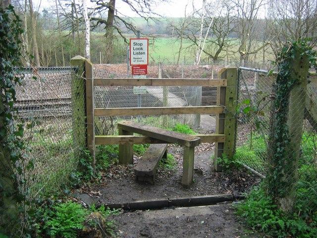 Footpath Crossing over Railway - Bough Beech