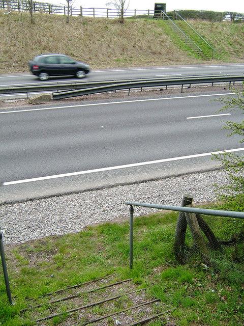 A14 pedestrian crossing near Cranford St John