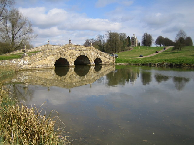 Stowe: The Oxford Bridge and Water