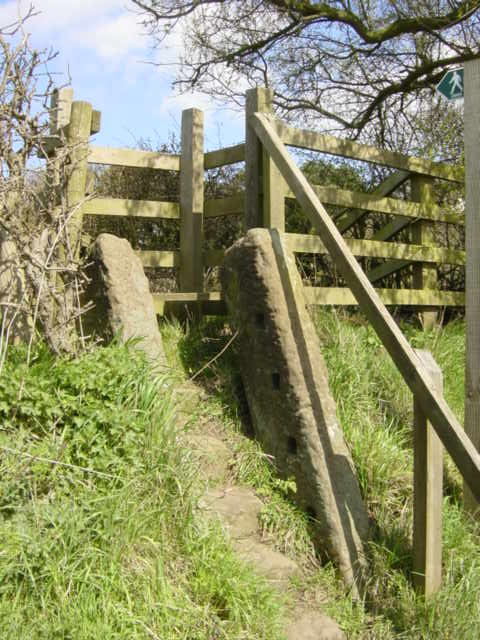 Sandstone Stile on the A54 near Delamere