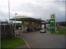 TQ4770 : BP Service Station, Edgington Way, Ruxley Corner, Kent by Dr Neil Clifton