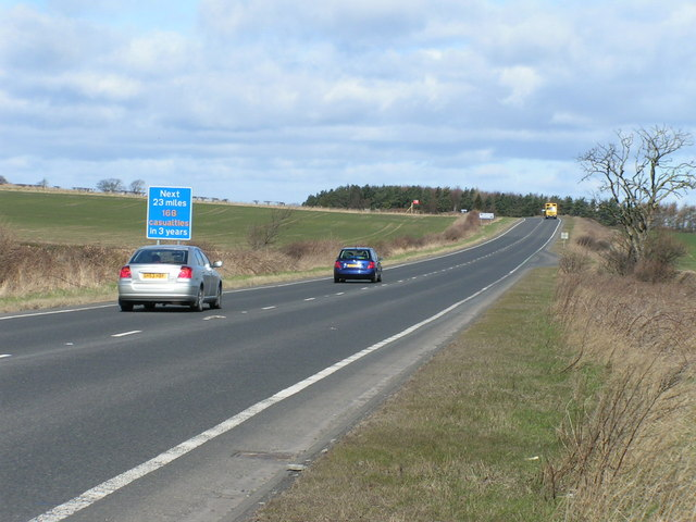 A1 near Ellingham