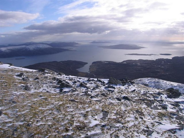 View south-west from the Summit of Uisgneabhal Mor