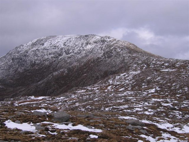 The south-eastern ridge of Uisgneabhal Mor, North Harris