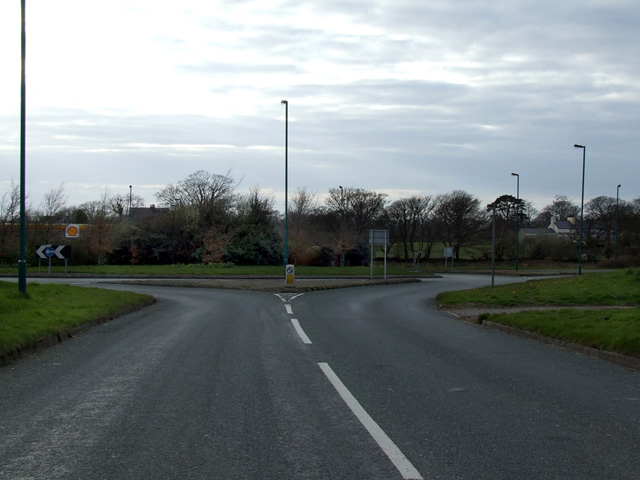 Roundabout at Caeathro