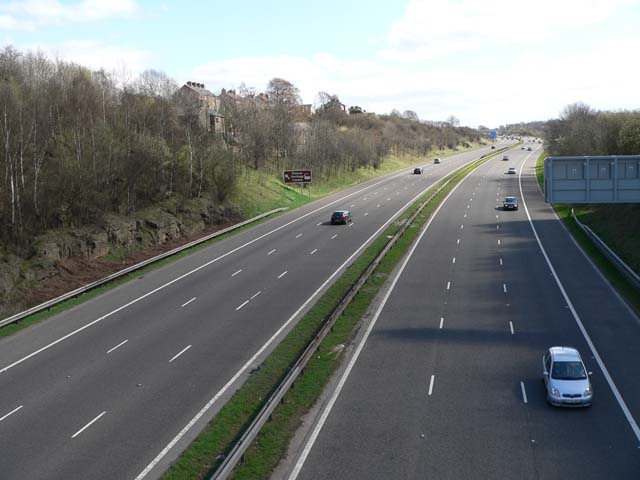 M1 Motorway at Birdwell - view south