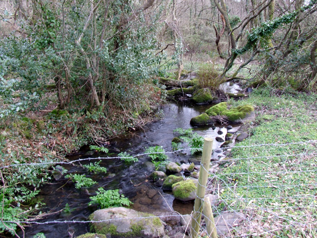 View of a stream outside Bontnewydd