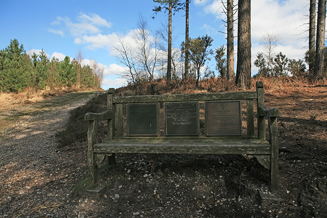 Memorial seat near top of Hart Hill