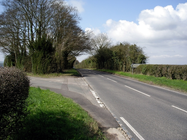 Junction of Hunton Down Lane and the old A30
