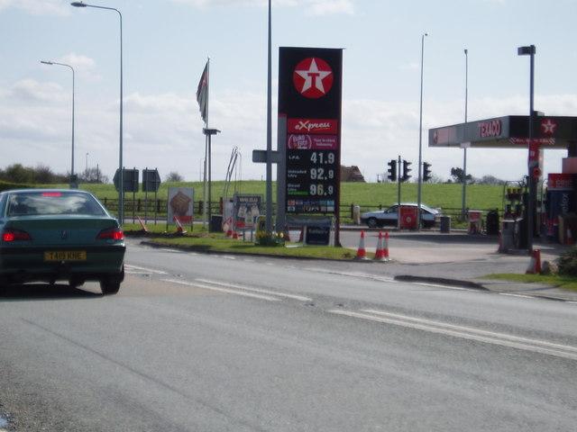Petrol Station at Dones Green