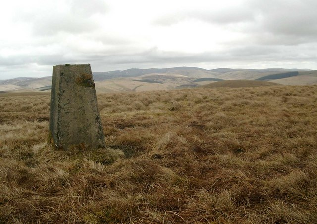Trig point on Shiel Hill
