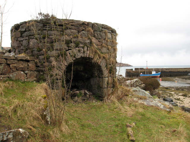Lime Kiln and Pier at Kinloch, Rum