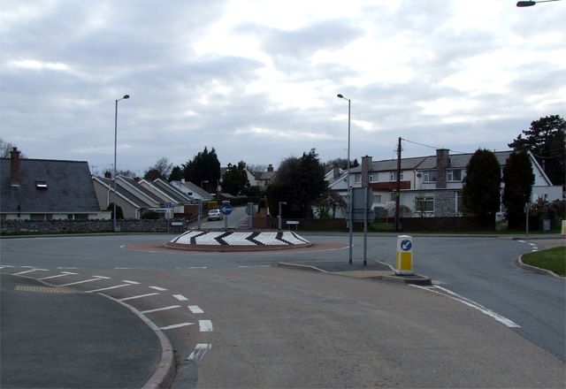 Roundabout at Bontnewydd