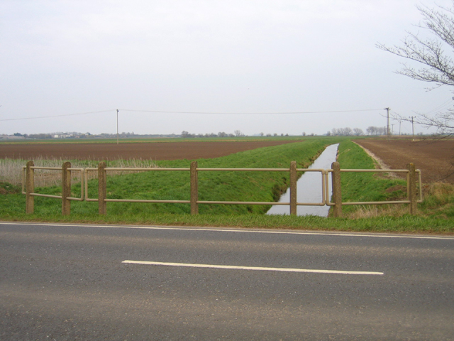 Fenland drain off Ramsey Road, Whittlesey, Cambs