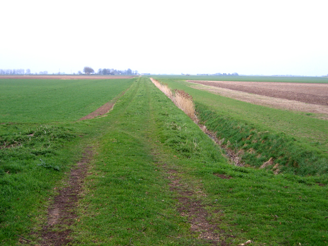 Farm track and dyke off Ramsey Road, Whittlesey, Cambs