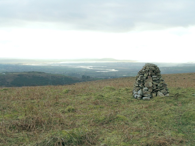 Summit cairn on Cefn Drum