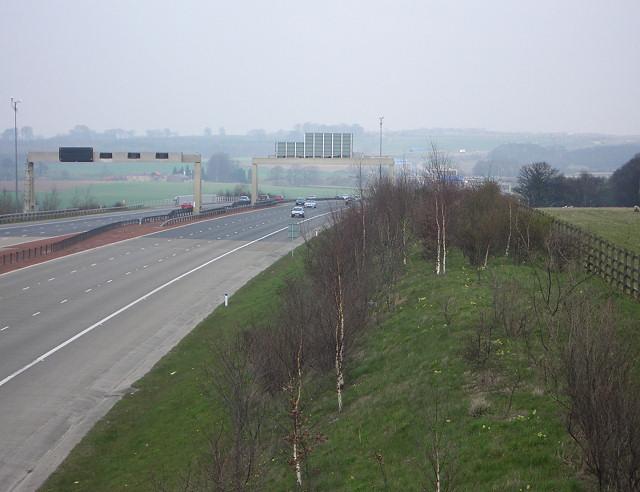Motorway embankment