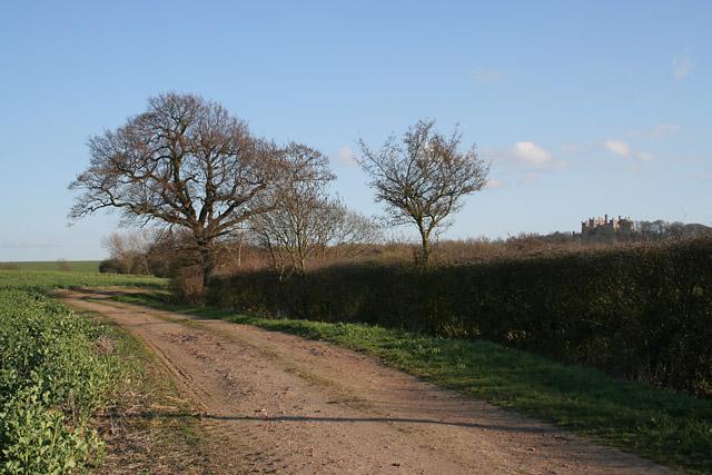 Farmland near Belvoir Castle