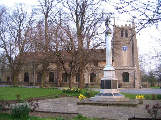 Parish church and War Memorial, Ramsey, Cambs