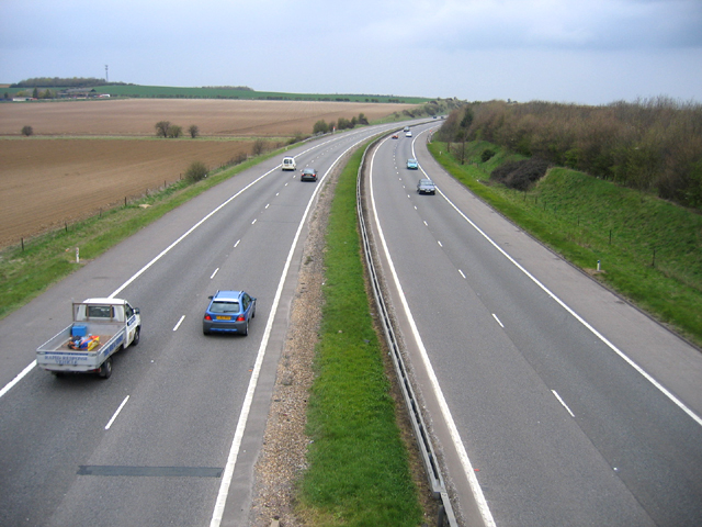 M11 west of Ickleton, Cambs