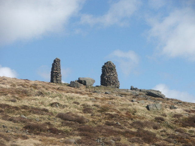 Cairns on Skipton Moor.