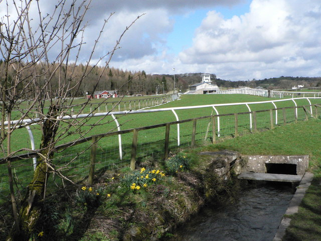 The final straight at Cartmel