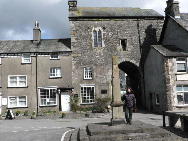 Cartmel Village Cross and Priory Gatehouse