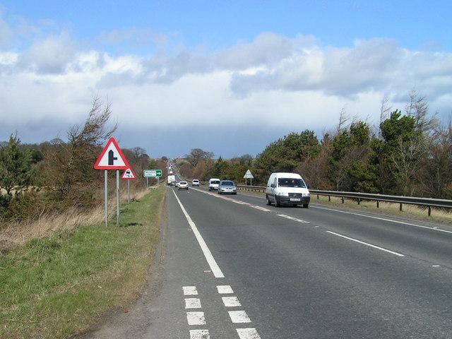 A1 near Warenford
