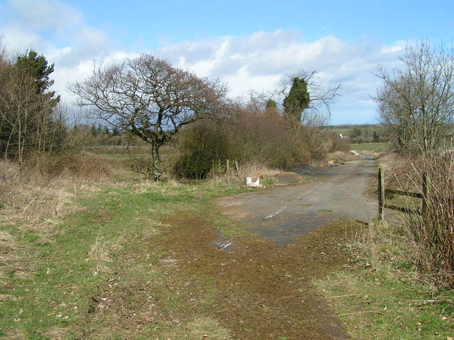 Former line of A1, Warenford