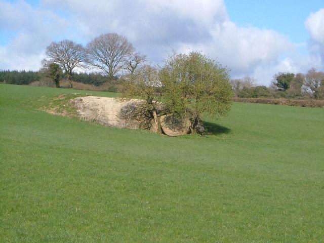 Rock near Bowden Farm