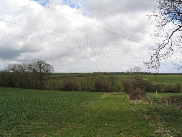 Footpath east of Jericho Farm