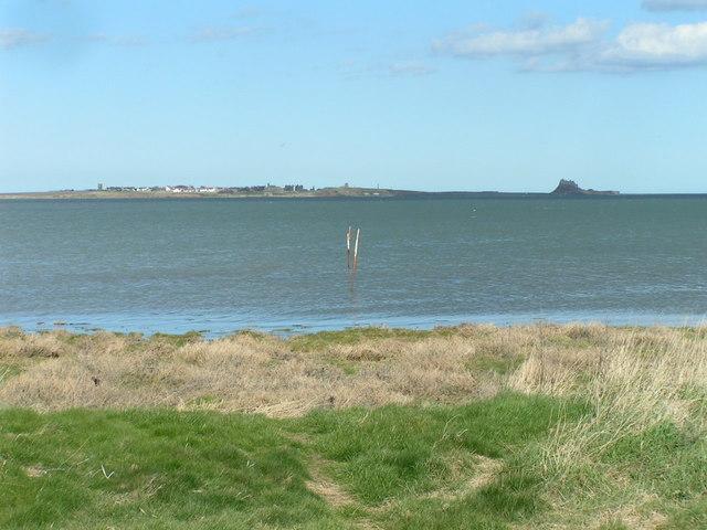 Lindisfarne from Lowmoor Point