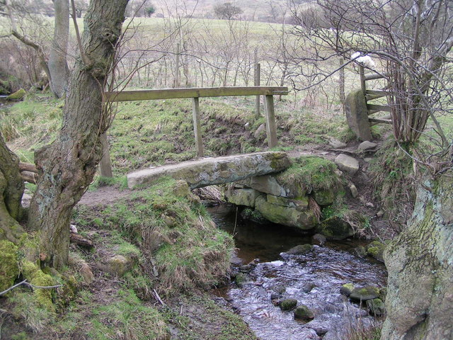 Footbridge near Allstone Lee