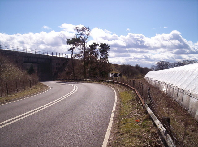 Old A90 Running Under East Coast Railway Line