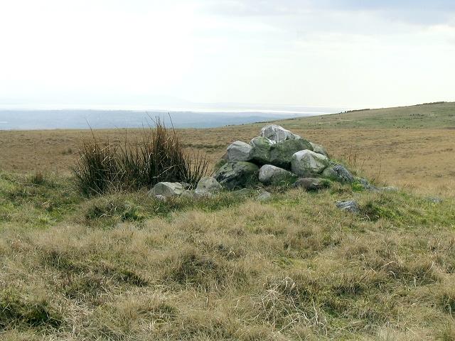 Cairn on common above Graig Fawr