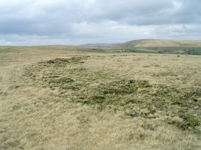 Earthwork outer ring on common above Graig Fawr