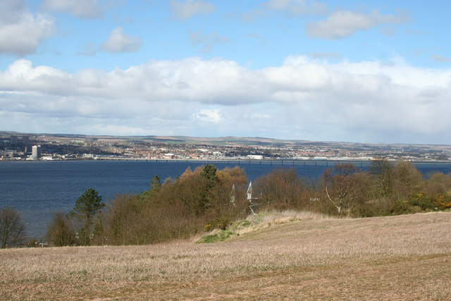River Tay  and Dundee from Wormit Hill