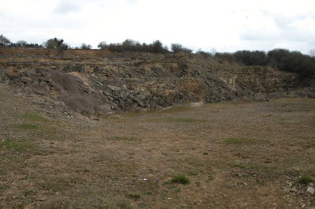 Disused Quarry near Bourton Far Hill Farm