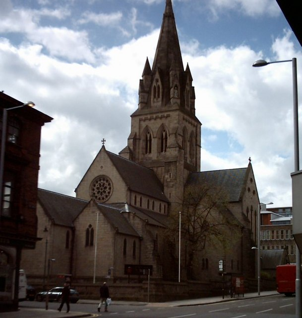 Nottingham Cathedral from Derby Road
