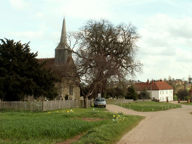 Black Notley church and Hall, Essex