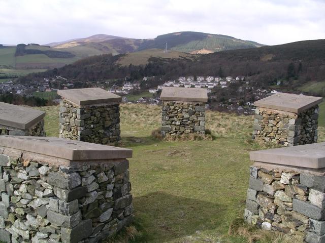 Modern stone circle, Innerleithen