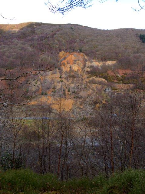 Abandoned lead mine at Cwmrheidol