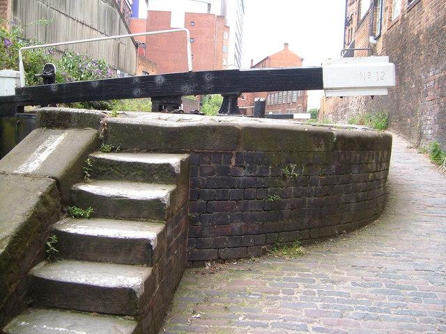 Lock on Birmingham & Fazeley Canal