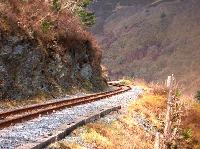 Vale of Rheidol Railway track