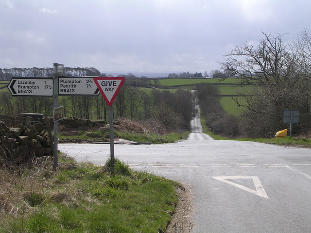 Crossroads on Lazonby to Plumpton Road