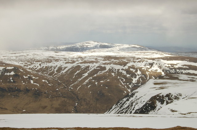Looking from the side of Glas Maol across Caenlochan Glen